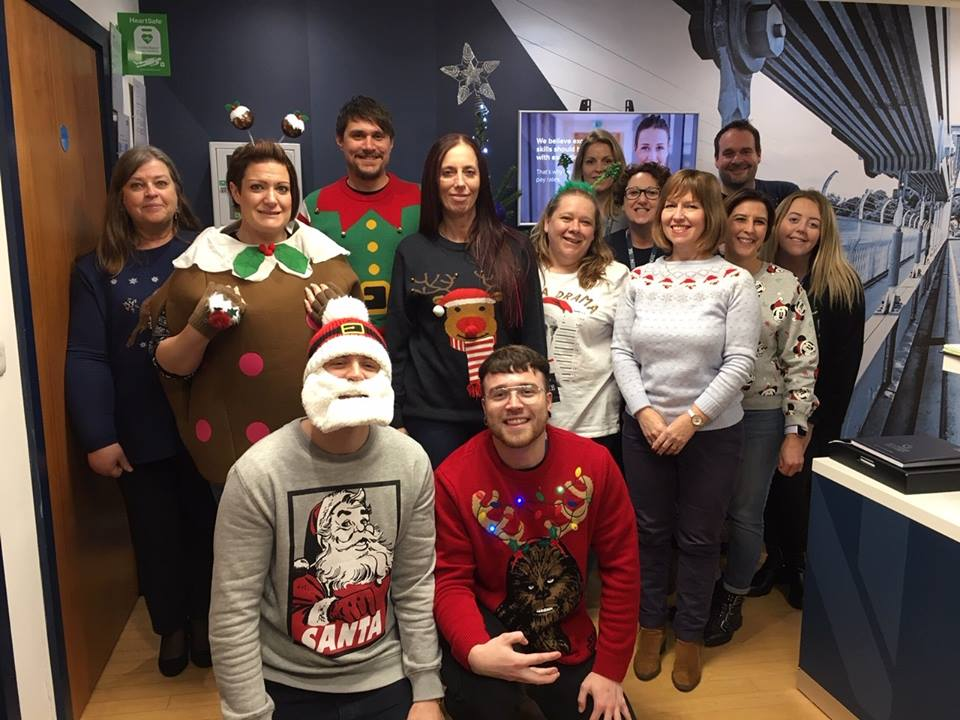 Staff wearing Christmas jumpers to raise money for Cavell Nurses' Trust