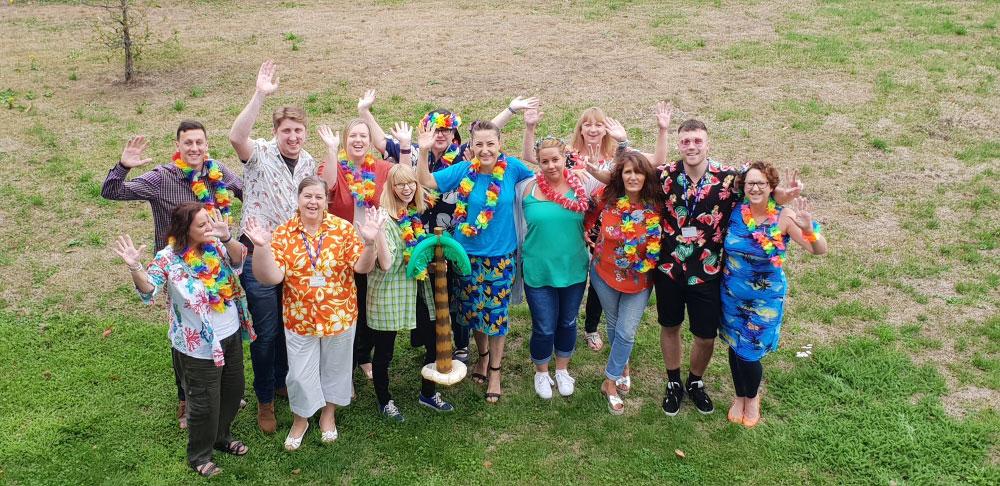 Staff wearing Hawaiian shirts to raise money for Cavell Nurses' Trust