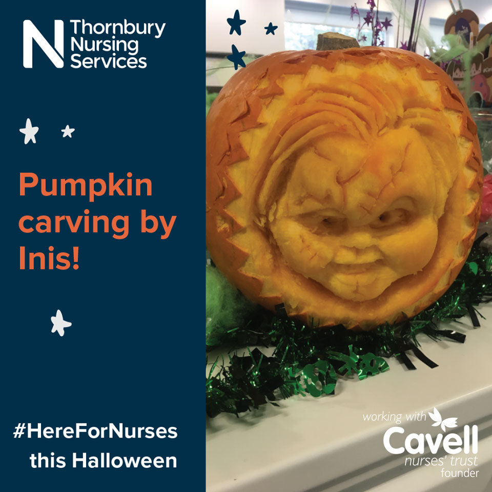 Pumpkin carving to raise money for Cavell Nurses' Trust