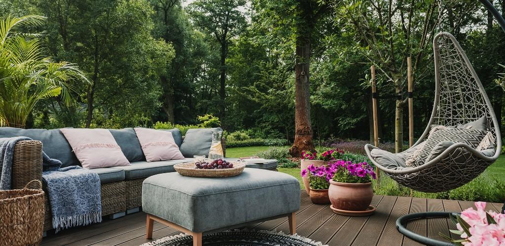 Modern looking garden furniture